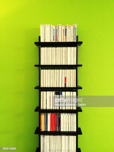 Close-Up Of Books On Shelves