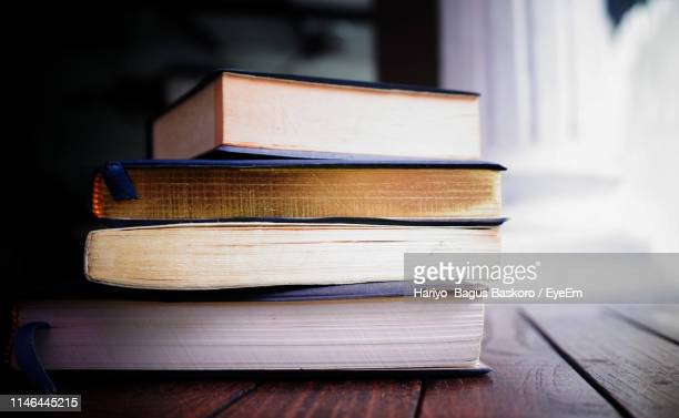 close-up of books on table - literature stock pictures, royalty-free photos & images