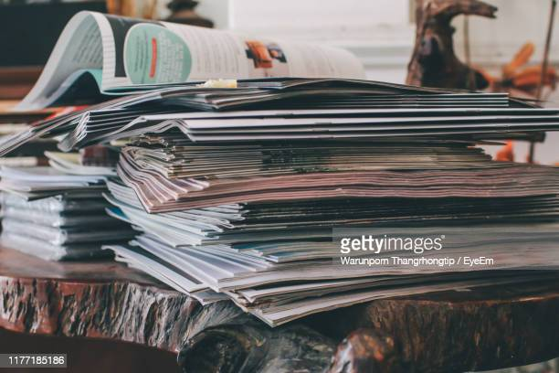 close-up of books on table - article stock pictures, royalty-free photos & images