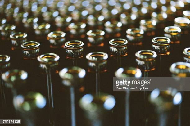 close-up of bottles - beer bottle stock pictures, royalty-free photos & images