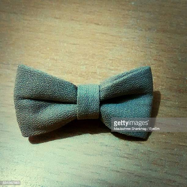 Close-Up Of Bow Tie On Table