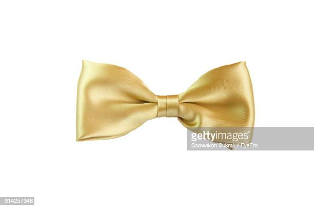 Close-Up Of Bow Tie Over White Background