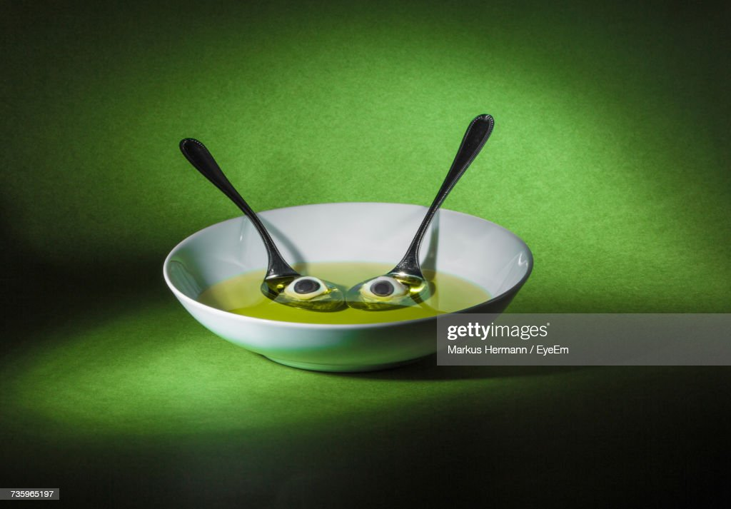 Close-Up Of Bowl On Table : Stock Photo