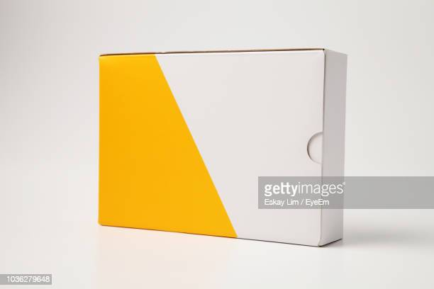 close-up of box on white background - box container stock pictures, royalty-free photos & images