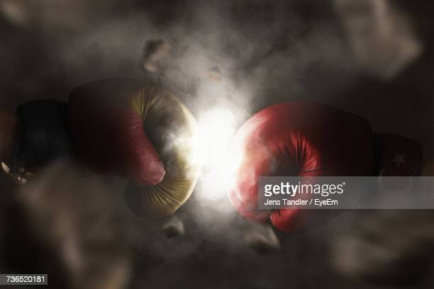 Close-Up Of Boxing Gloves