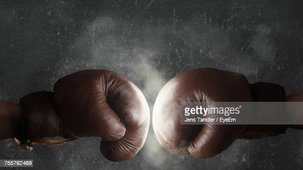 close-up of boxing hands - boxing gloves stock photos and pictures