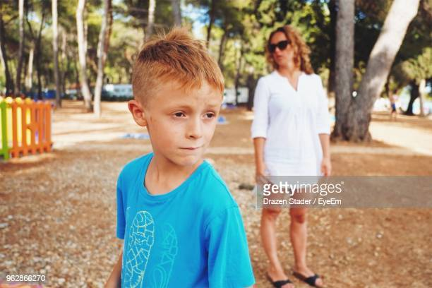 Close-Up Of Boy In Park