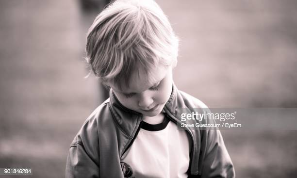 Close-Up Of Boy Standing Outdoors