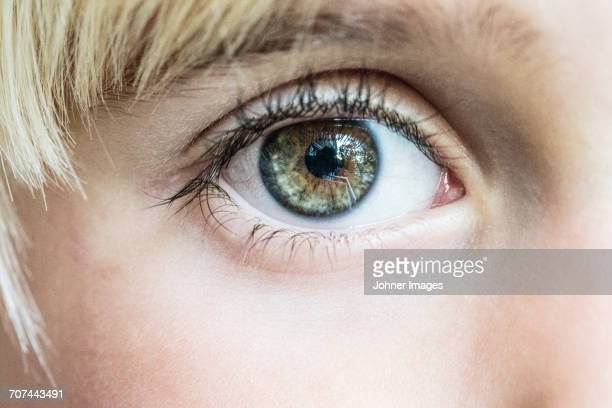 Close-up of boy with hazel eyes