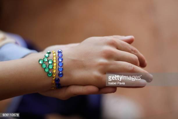 Close-Up Of Bracelet On Girl Wrist