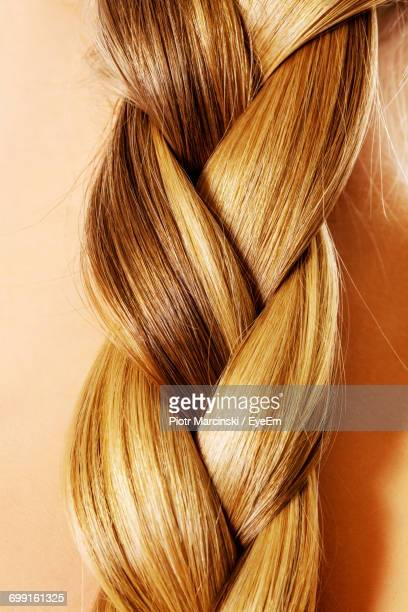 close-up of braided hair - braided hair stock pictures, royalty-free photos & images