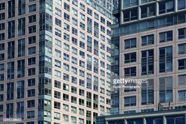 close-up of brand new residential towers along the queens waterfront. new york city, usa - queens new york city stock pictures, royalty-free photos & images