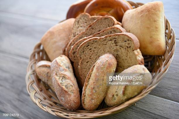 close-up of bread in container - bun bread stock pictures, royalty-free photos & images