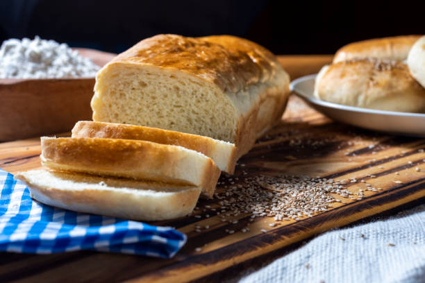 Close-up of bread on table,Banfield,Buenos Aires,Argentina