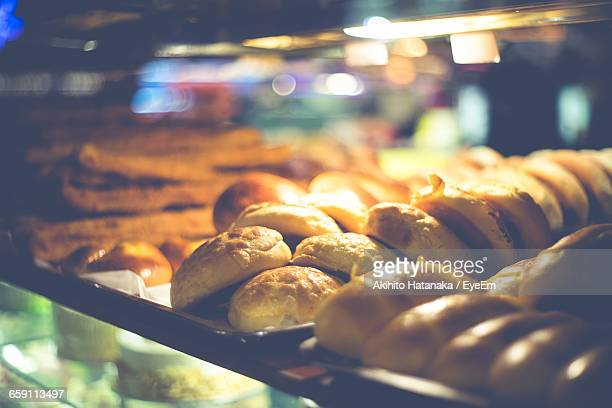 Close-Up Of Breads In Bakery