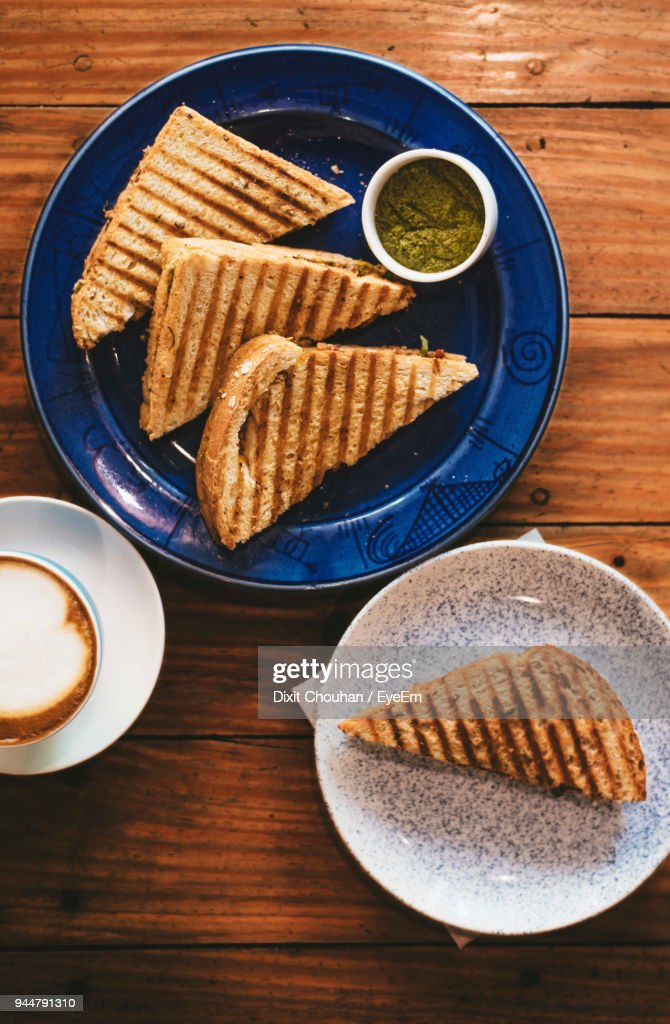 Close-Up Of Breakfast On Table : Stock Photo