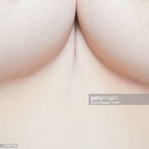 close-up of breasts - cleavage close up stock photos and pictures