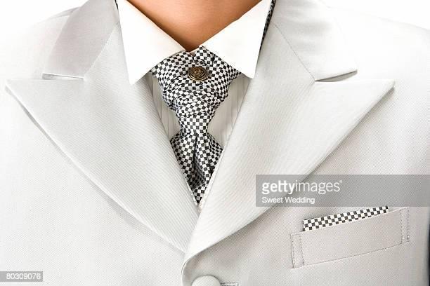 close-up of bridegroom's suit - revers stock-fotos und bilder