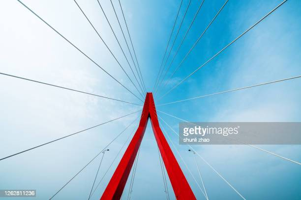 close-up of bridge structure - triangle shape stock pictures, royalty-free photos & images