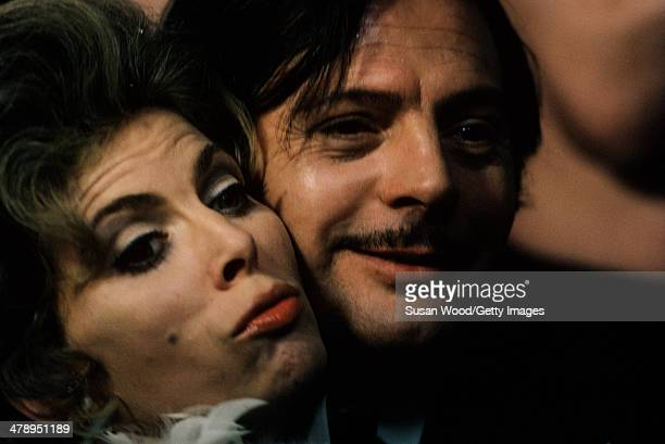 Closeup of British actress Billie Whitelaw and Italian actor Marcello Mastroianni on the set of 'Leo the Last' England 1970