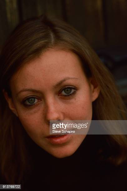 Closeup of British actress Jenny Agutter on the set of the film 'Equus' London England 1976