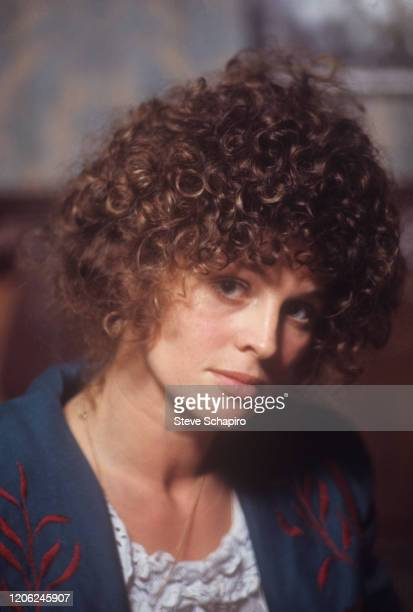 Closeup of British actress Julie Christie on the set of her film 'McCabe Mrs Miller' Vancouver British Columbia Canada 1970