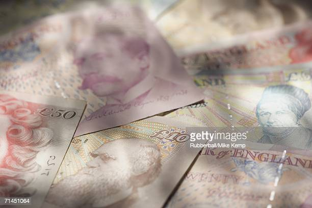 Close-up of British pounds