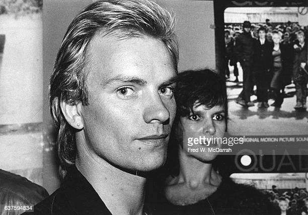 Closeup of British Rock musician and actor Sting as he attends a premiere party for the film 'Quadrophenia' at the Mudd Club New York New York...