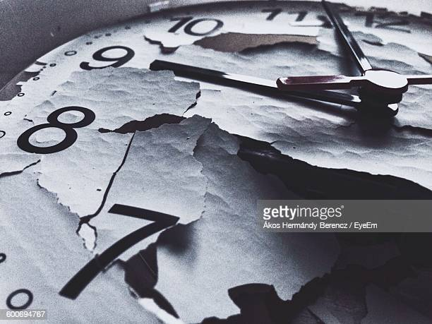 Close-Up Of Broken Clock