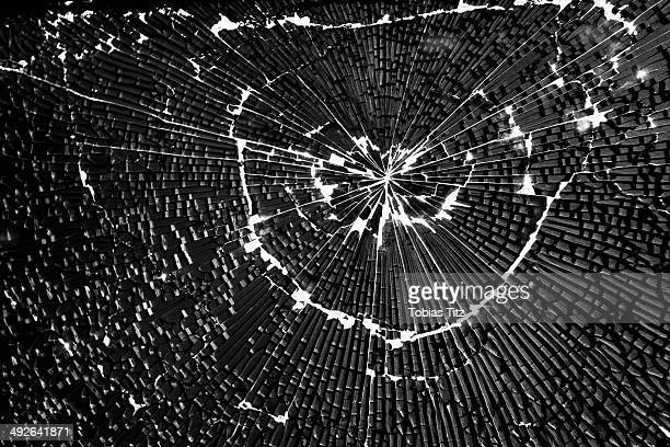 close-up of broken glass - shattered glass stock pictures, royalty-free photos & images