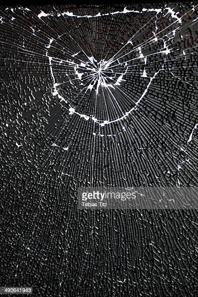 Close-up of broken glass