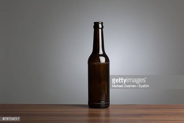 Close-Up Of Brown Bottle