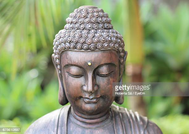 close-up of buddha statue - buddha stock pictures, royalty-free photos & images