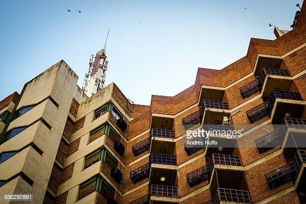closeup of buildings in downtown córdoba argentina - andres ruffo stock pictures, royalty-free photos & images