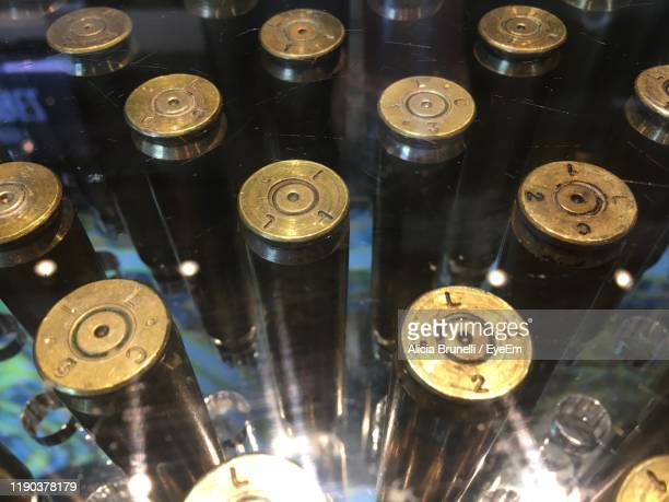 close-up of bullets - ammunition stock pictures, royalty-free photos & images