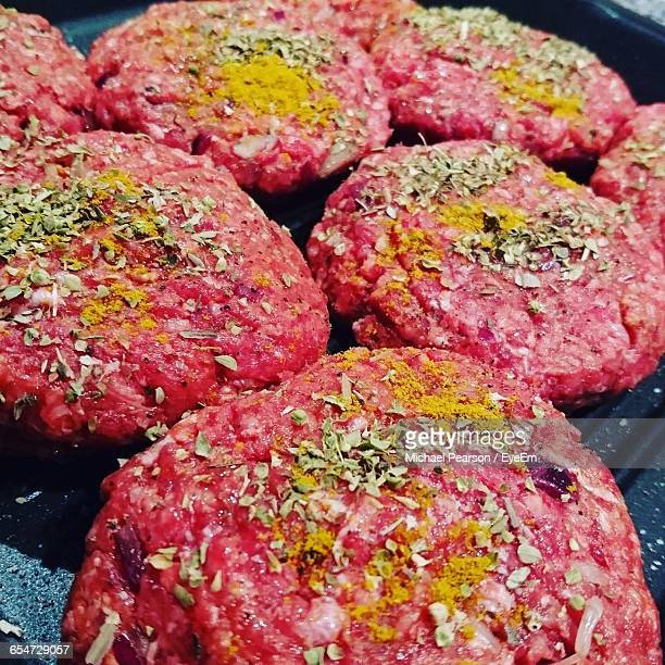 Close-Up Of Burger On Grill