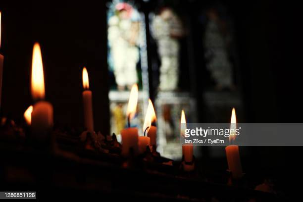 close-up of burning candles in temple - oxford - 2016 stock pictures, royalty-free photos & images