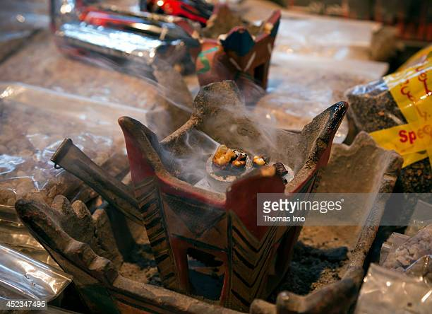 Closeup of burning incense on March 25 in Muscat Oman