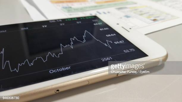 Close-Up Of Business Data Displayed On Smart Phone