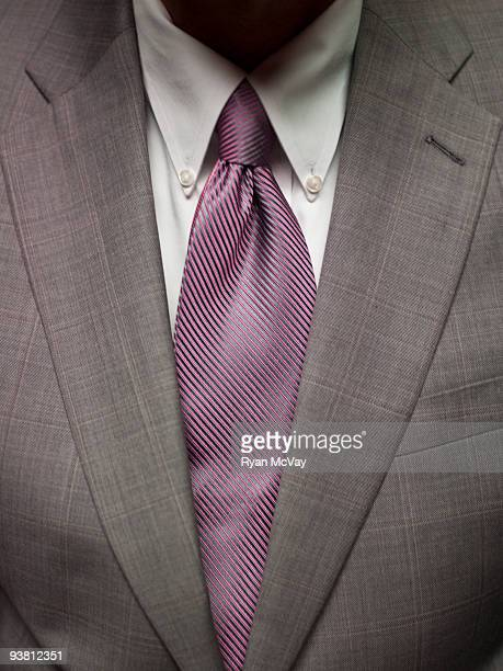 Close-up of business suit and tie