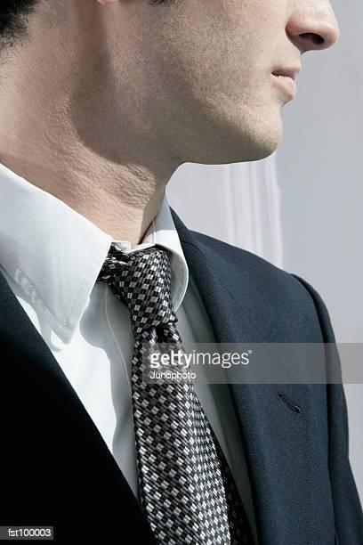 Close-up of businessman