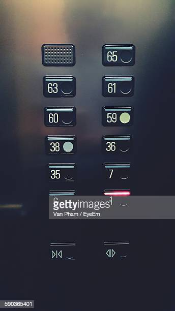 Close-Up Of Buttons In Elevator