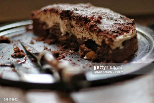 close-up of cake in plate - bavaria stock pictures, royalty-free photos & images