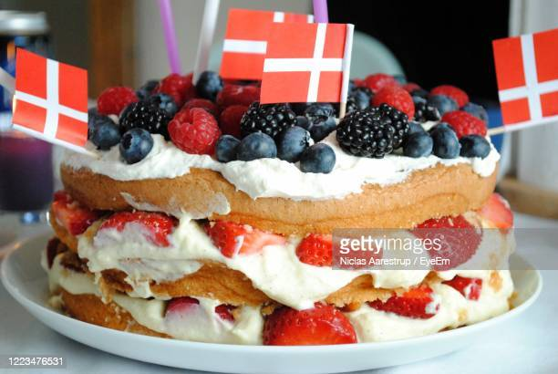 close-up of cake on a plate - tradition stock pictures, royalty-free photos & images