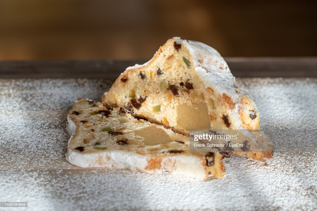 Close-Up Of Cake On Table : Stock Photo