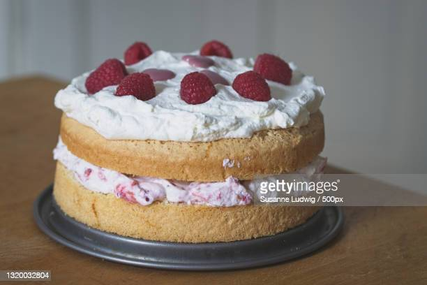 close-up of cake on table,germany - susanne ludwig stock pictures, royalty-free photos & images
