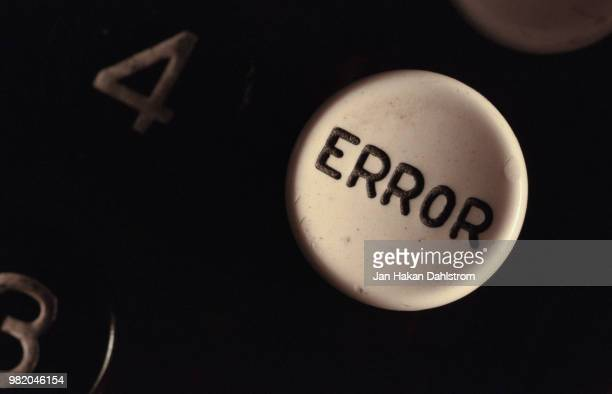 close-up of calculator error key - error message stock pictures, royalty-free photos & images