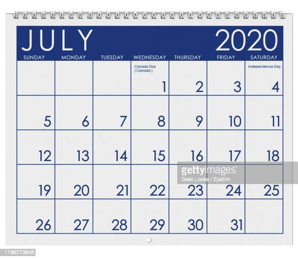 close-up of calendar against white background - 2020 stock pictures, royalty-free photos & images