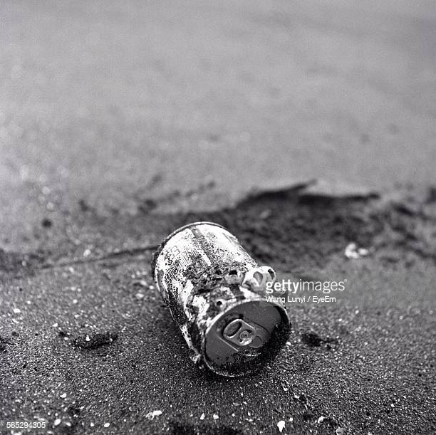 Close-Up Of Can On Sand