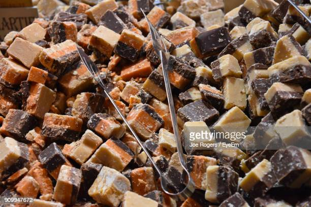 close-up of candies - fudge stock photos and pictures
